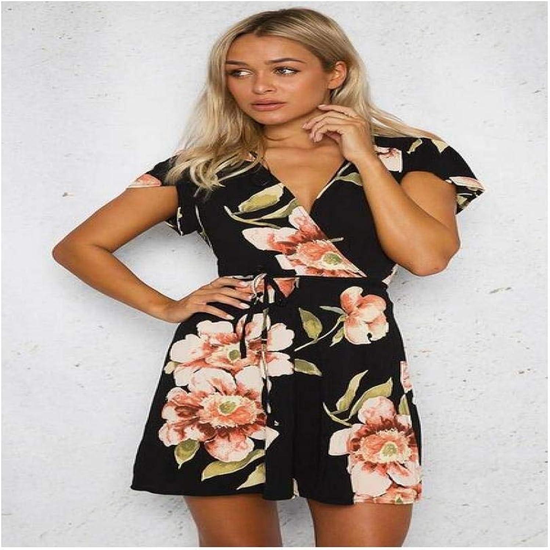 Comfortable Women's Summer Long Print Slim Dress elegant