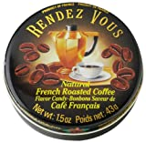 Rendezvous Hard Candy Tin Roasted Coffee, 1.5-Ounce (Pack of 12)
