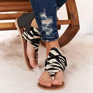 in pelle comodi stile casual Sandali infradito da donna taglie 38-48 da donna