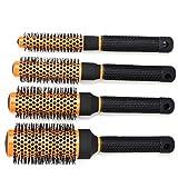 CCbeauty Professional Roller Hair Brush Round Set Detangling Nylon Bristles,Barber Supplies Comb Set