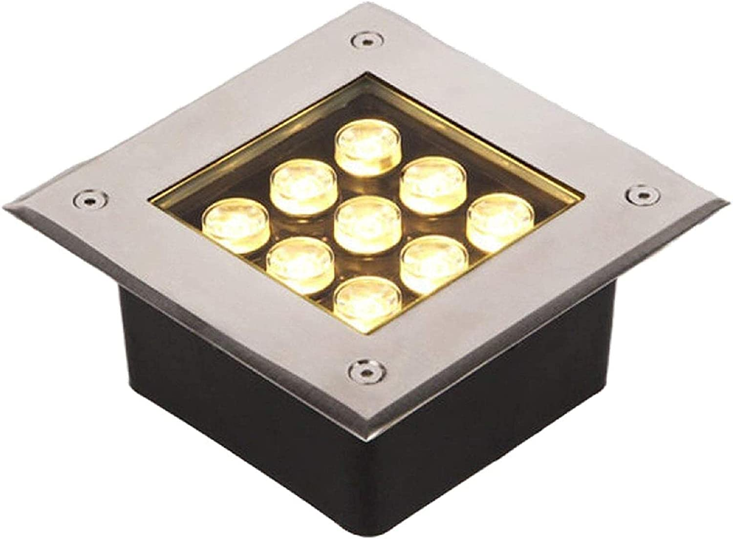 MWKLW LED Safety and trust Outdoor Floor Light Underground Waterproof Lights 9W Detroit Mall