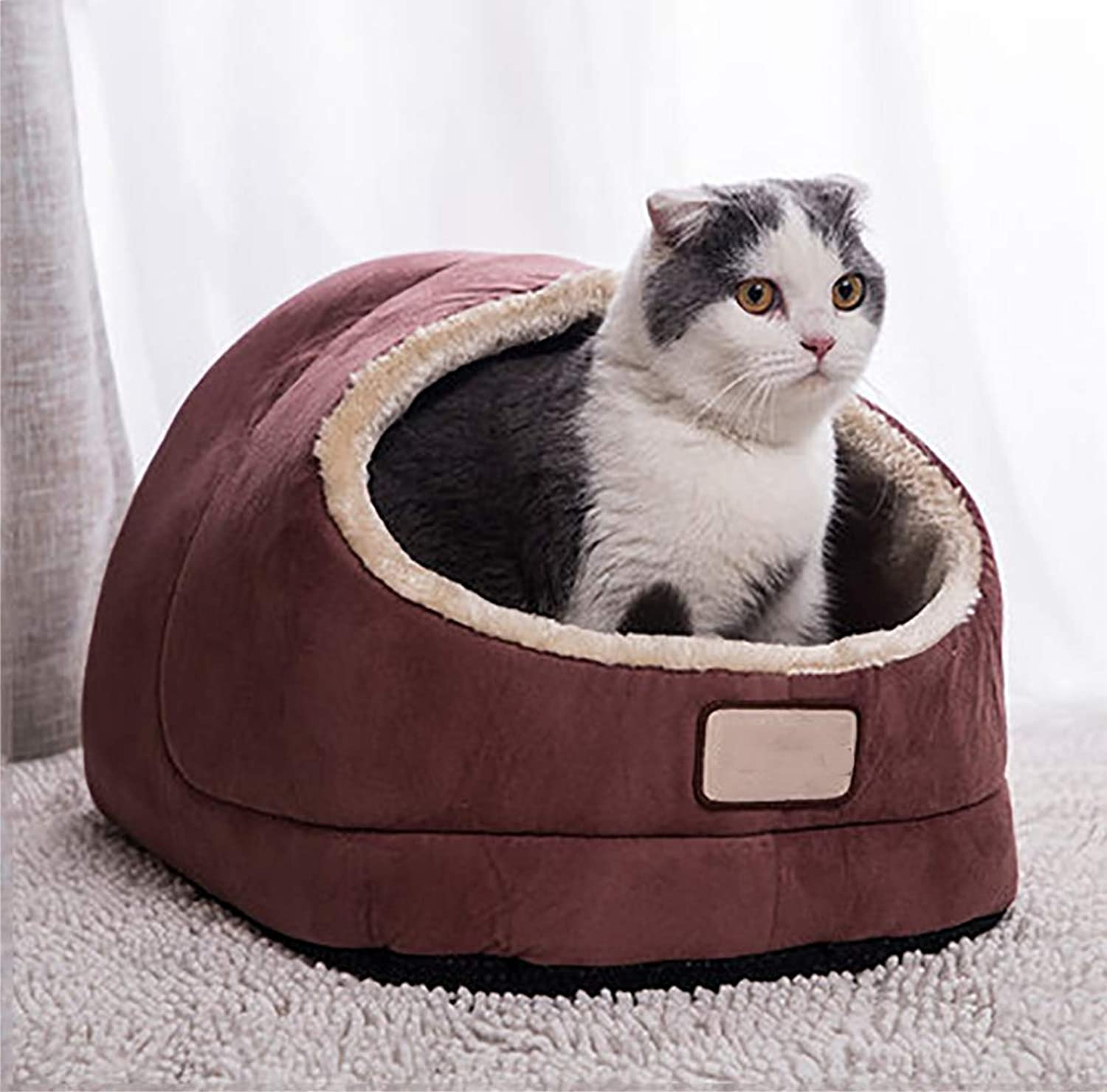MEIQI Cozy Kitty Tent Igloo Pet Beds Cat Nest for Cats and Small Dogs
