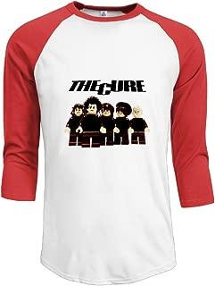 JACKP Mens The Cure 100% Cotton 3/4 Sleeve Athletic Raglan Sleeves T-Shirt