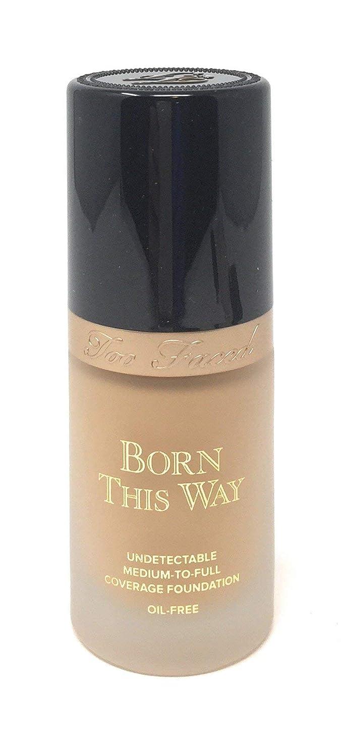 型豚単にToo Faced Born This Way Medium-to-Full Coverage Foundation in Light Beige 1 OZ [並行輸入品]
