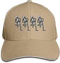 Adult Spooky Scary Skeletons BW Cotton Lightweight Adjustable Peaked Baseball Cap Sandwich Hat Men Women