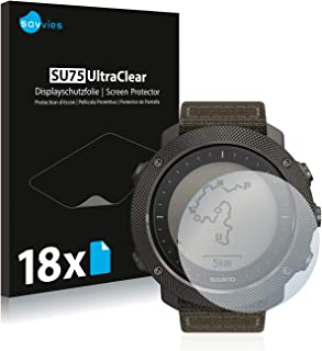 Savvies 18x Schermbeschermer compatibel met Suunto Traverse Alpha Screenprotector ultra transparant