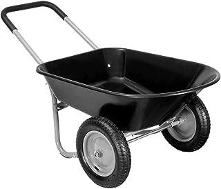king77777 Heavy Duty 2 Tier Garden Landscape Wagon Wheelbarrow New Useful, Modern Design