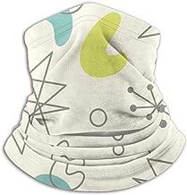Mid Century Modern Seamless Pattern. 1950S Vintage Style Atomic Science Ski Mask Cold Weather Face Mask Neck Warmer Fleece Hood Winter Hats