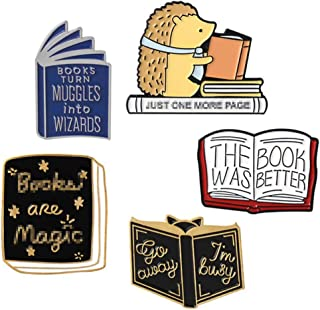 JONERISE 5 Pcs Enamel Brooch Pin Set Cute Cartoon Brooches Lapel Pins Badge for Kids Children Jean Bag Clothes Decoration