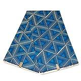 Julius Holland Stoff, afrikanischer Stoff, blaue Dreiecke,