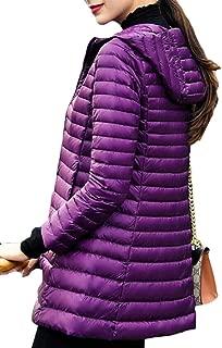 Women's Lightweight Hooded Long Down Jacket