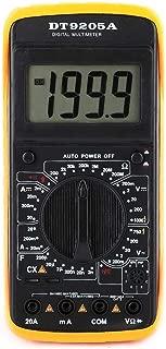 Akozon Multímetro digital DT-9205A LCD digital de mano AC/DC Volt Amp Ohm Amperímetro Capacitancia Hz Tester Cuenta 1999 Retención de datos Modo de reposo