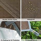 Unigear Zeltplane, Tarp für Hängematte, wasserdicht mit Ösen + 6 Erdnägel+ 6 Seilen, Regenschutz Sonnenschutz für Ourdoor Camping MEHRWEG (Kaffee-300 x 400cm) - 4