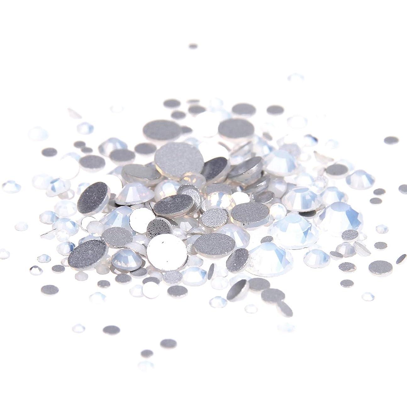 処方する指吸うNizi ジュエリー ブランド ホワイトオパール ラインストーン は ガラスの材質 ネイル使用 型番ss3-ss34 (混合サイズ 1000pcs)
