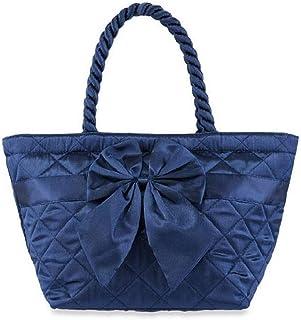 NaRaYa Gesteppte Schulterhandtasche Satin, Blau, 33x18x14 cm