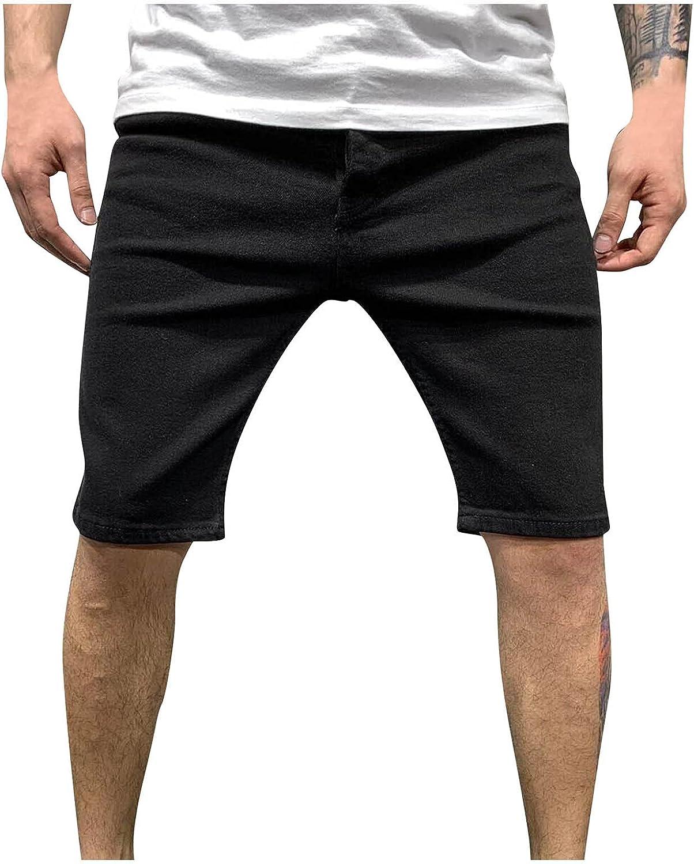 Men's Shorts Jeans Pockets Denim Hole Fashion Summer Casual Pants Stylish Streetwear Travel Outdoor Trouser Latest Premium