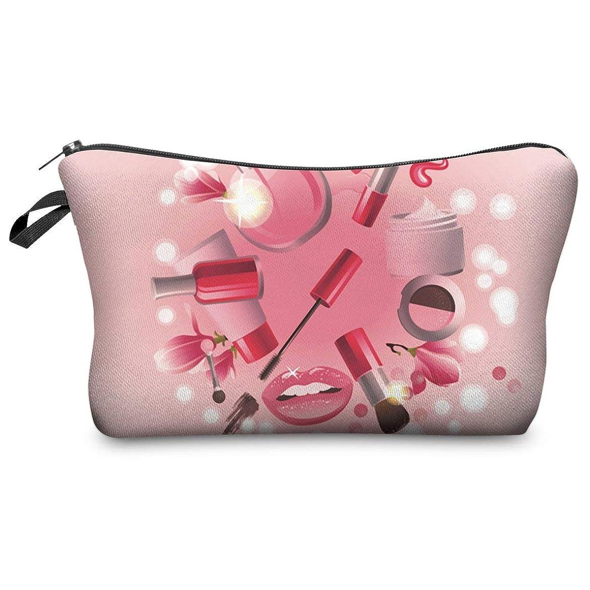 パターンとにかく同情的軽量ポータブルコインストレージケーストラベルメイクポリエステルポーチ化粧品バッグケース女性のための女の子-マルチカラー混合