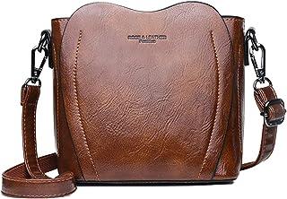 BUKESIYI Damen Tasche Umhängetasche Handtasche Frauen Klein Schultertasche Weekender Lack PU Leder CCDE77174