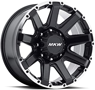 MKW Offroad M94 Satin Black Wheel Finish and Machined Outer Ring (17 x 9. inches /8 x 170 mm, 10 mm Offset)