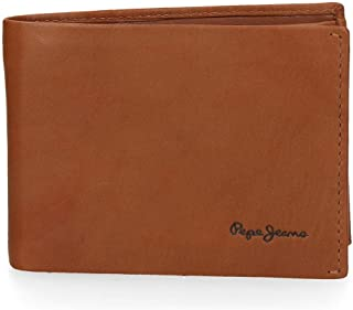 Pepe Jeans Fair Cartera Horizontal Marrón 11,5x8x1 cms Piel