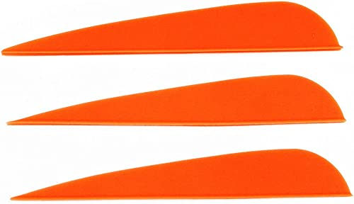 Letszhu Arrows Vanes 4 Inch Plastic Feather Fletching for DIY Archery Arrows 50 Pack…