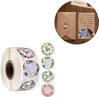 Etichette adesive di carta con cuore rosso bomboniere da 2,54 cm per confezioni regalo con scritta in lingua ingleseThank you with Red Heart 1000 adesivi per rotolo bomboniere