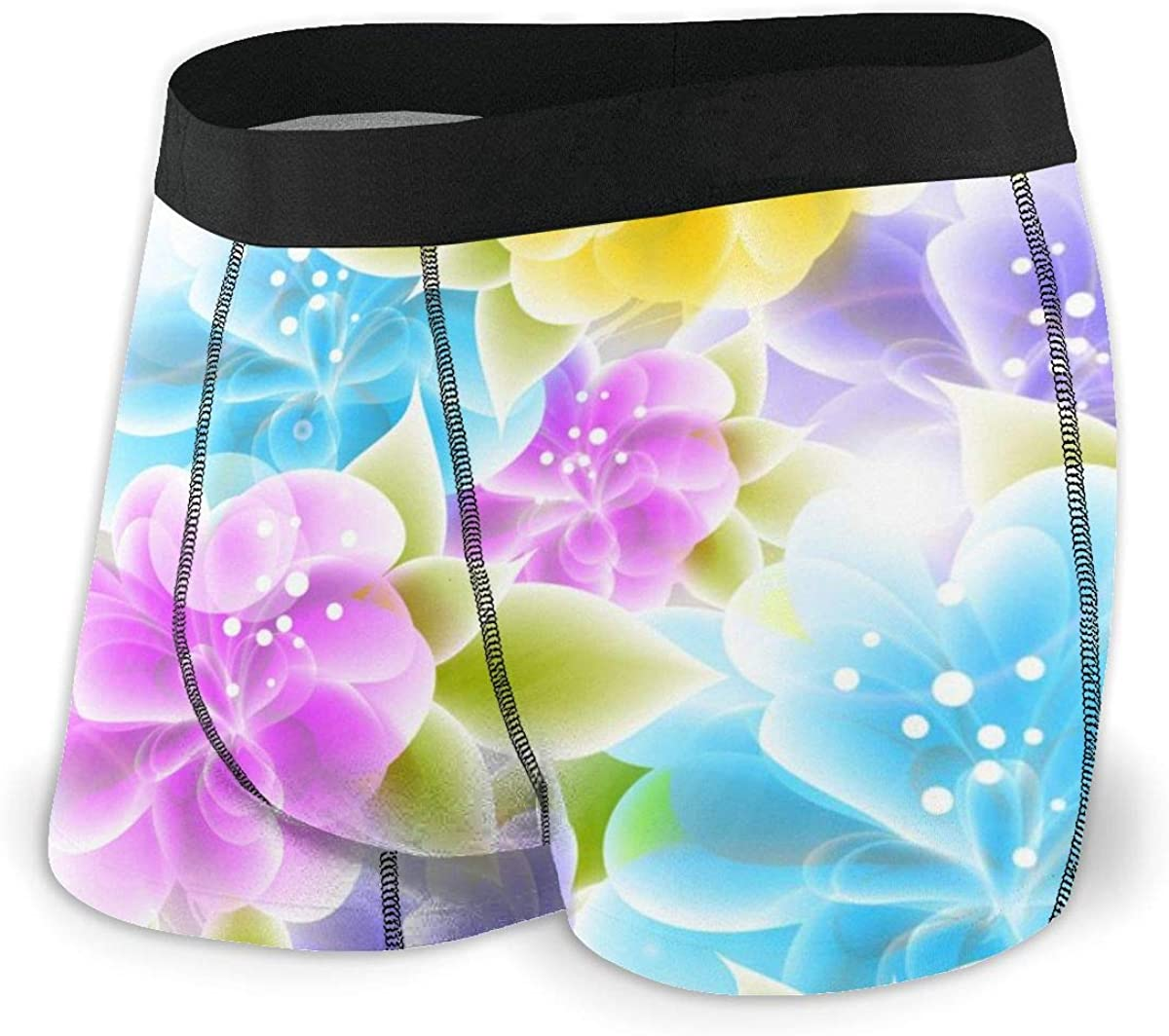 Mens Boxer Briefs Wedding Floral Beautiful Cute Breathable Underwear