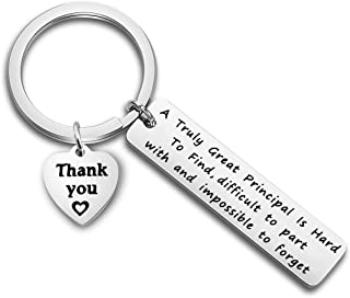 TGBJE School Principal Gift A Truly Great Principal is Hard to Find Difficult to Part with and Impossible to Forget Keychain Retirement Gift Thank You Gift