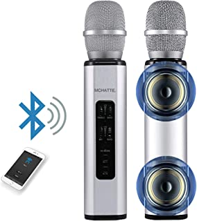 MCHATTE Bluetooth Karaoke Microphone, Wireless Portable Handheld Karaoke Machine for Party/Meeting/Speech, Built-in Speake...