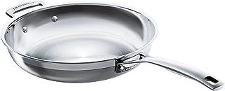 Le Creuset 3-Ply Sartén baja, Ø 28 cm, acero inoxidable, para todo tipo de fuentes de calor (incl. inducción) y horno, metálico