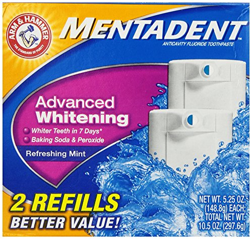 ARM & Hammer Mentadent Advanced Whitening 2 refills 5.25 Oz
