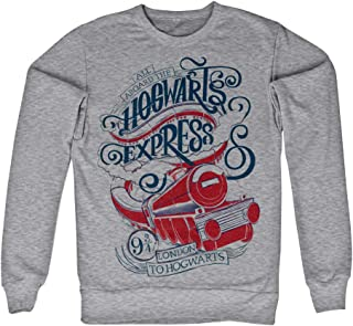 Harry Potter Officially Licensed Inked All Aboard The Hogwarts Express Sweatshirt (Heather Grey)