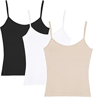 H HIAMIGOS Women's Basic Solid Camisole Adjustable Spaghetti Strap Tank Top
