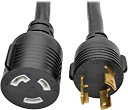 TRIPP LITE Heavy Duty Power Extension Cord 30A 10 AWG L5-30P to L5-30R Locking Connectors 6', Black (P046-006-LL-30A)
