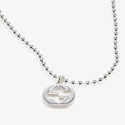 Gucci 55cm Interlocking G Necklace (Silver) Necklace