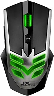 Qisan(TM) 2800 DPI 6 Button Green LED Light Glowing USB Wired Gaming Mouse