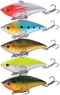 10PCS Crankbait 7cm//18g VIB Sinking Fishing Lure Hook Hard Bait Tackle Trout