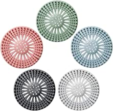 QWORK 5 Pack Hair Catcher Shower Drain Covers Ideal for Bathroom Bathtub and Kitchen