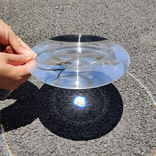 Fresnel Lens Magnifier, Diameter 200mm (7.9''), Focal Length 200mm, Acrylic Ultrathin Lens for Physics Classroom,Solar Heating,Magnifiying. (Focal Length 200mm)