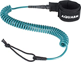 AQUARM Premium Coiled Surfboard Leash, 11 feet SUP Leash Leg Rope, Stand Up Paddle Board Leash for All Types of Surfboards