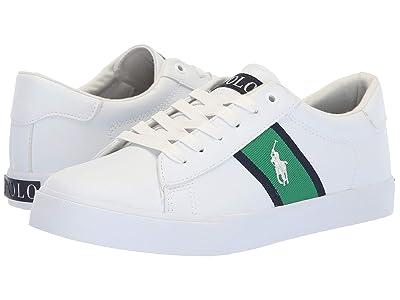 Polo Ralph Lauren Kids Geoff (Big Kid) (White Tumbled/Green/Navy/White Pony) Boy
