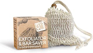 Good Cube Exfoliator and Solid Bar Saver Hemp Bag - Naturally Exfoliating For Body/Hair/Face, Easy to Use in Shower - Zero...