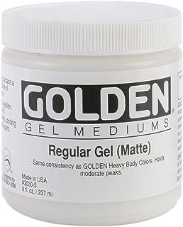 Golden Regular Matte Gel Medium-8 ounce