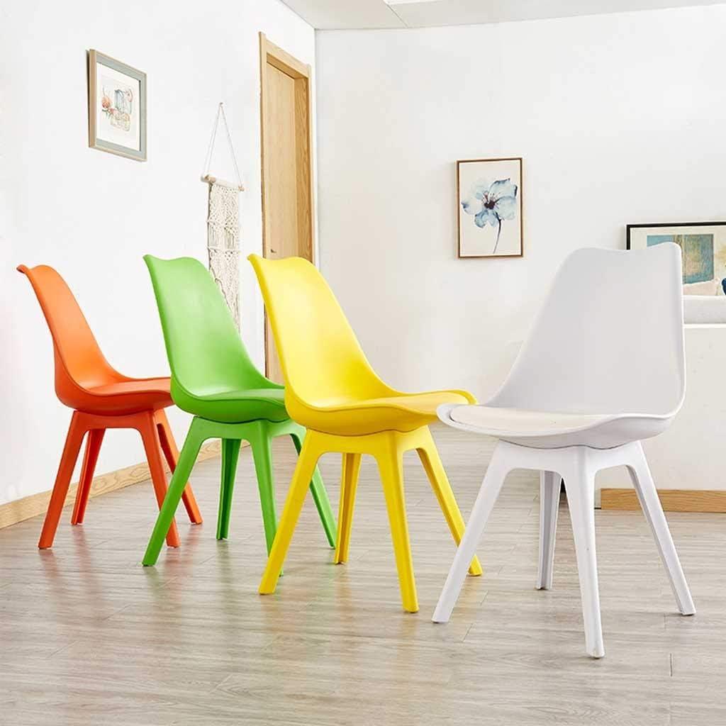 LRXG Chaise de Salle à Manger for Enfants Créative Moderne Minimaliste en Plastique Tabouret Chaise Fauteuil Restaurant for Adultes Salon Nordique Chambre (Color : Orange) Red