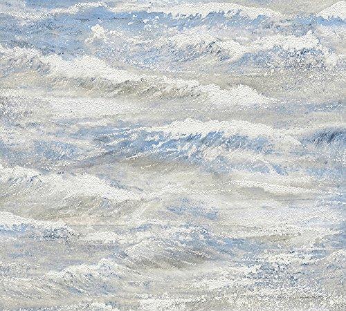 A.S. Création Vliestapete Côte d`Azur Tapete in maritimer Wellen Optik 10,05 m x 0,53 m beige blau creme Made in Germany 354092 35409-2