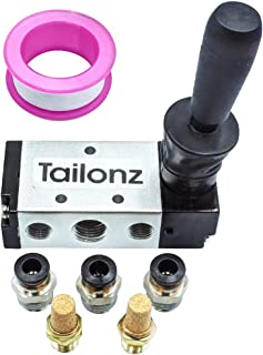 Tailonz Pneumatic 5 Way Pneumatic Air Hand Lever Valve 2 Position Operated Valve Solenoid Valve Port 1/4 PT Manual Control Push Pull Valves 4H210-08