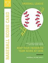 Baseball Score Card: Record Your Favourite Baseball Team with Baseball Scorebook | 110 Pages on White Paper (Baseball Score Sheet)