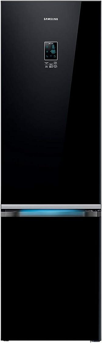 Frigorifero combinato serie 6000, 367 l, vetro nero samsung rb37k63632c/ef