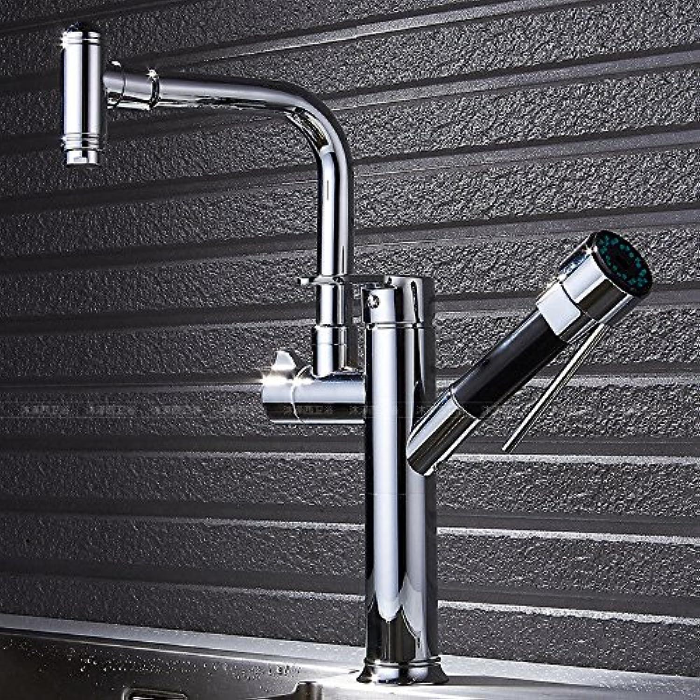 NewBorn Faucet Küche oder Badezimmer Waschbecken Mischbatterie 000 zu Drehen Sie Das Wasser hei und kalt Kupfer Ziehen Spülmittel Waschbecken Waschbecken Tippen Sie auf Eine