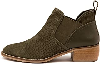 Hush Puppies Davis-HP Olive Womens Shoes Flat Ankle Boots